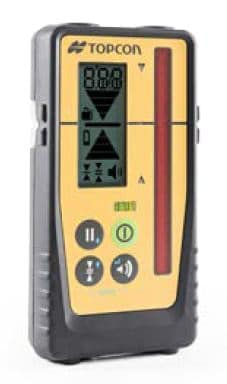Topcon LS-100D receiver for the Topcon RL-H5A rotating laser level. Topcon RL-H5A rotating laser level review.