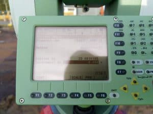 Leica TCRP 1205 Screen during resection total station