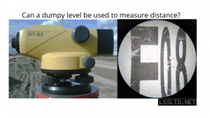 Can a dumpy level be used to measure distance?