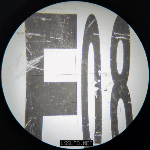 E-Grad Staff as seen through the telescope of a Topcon AT-B3 Automatic (Dumpy) Level.  The Stadia readings are 841mm and 824mm.