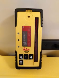Leica Rod Eye 160 Digital. The preferred rod eye for use with the Leica rugby 620 rotating laser level