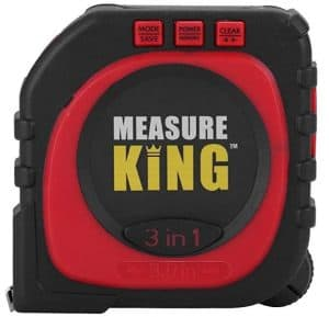Measure King 3 in 1 digital laser tape measure. measure circumference. measure internal curves, measure distances with a laser.
