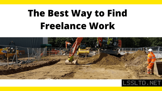 The Best Way to Find Freelance Work. Blog post header.