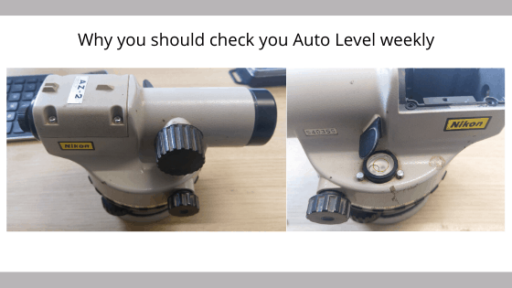 auto level checks to be done weekly