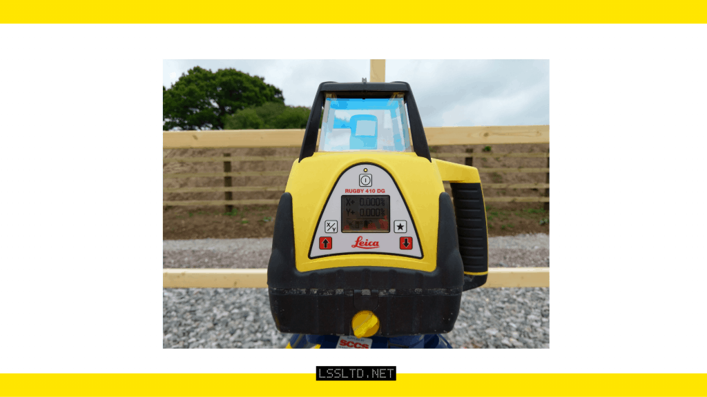 Leica Rugby 410 Dual Grade Rotating Laser Level.